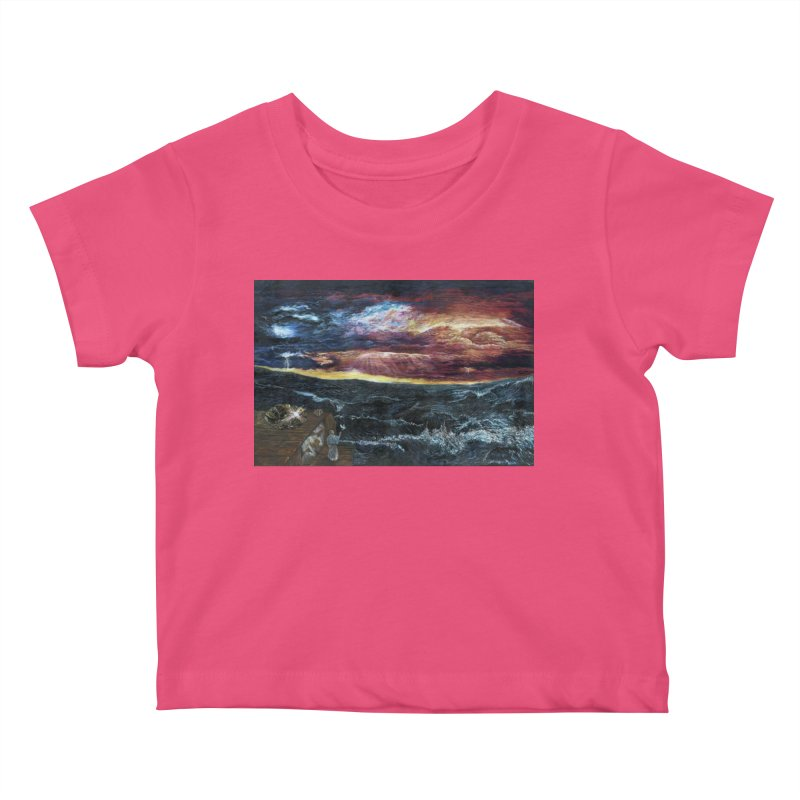 noahs ark Kids Baby T-Shirt by Elevated Space