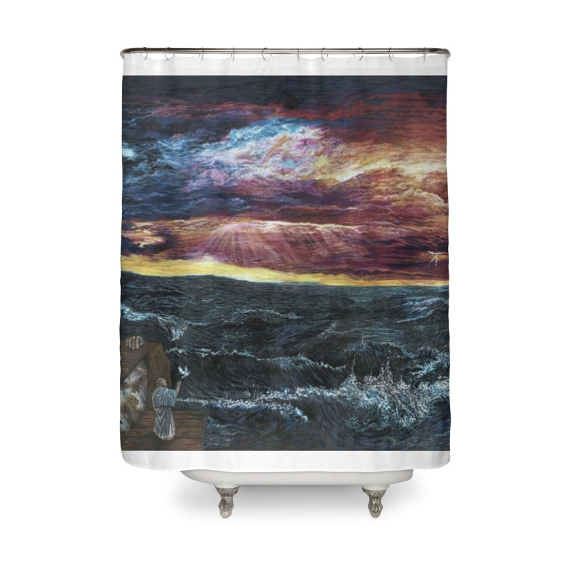 noahs ark Home Shower Curtain by Elevated Space