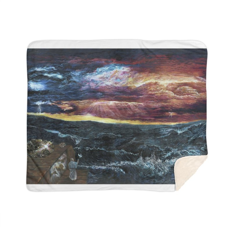 noahs ark Home Sherpa Blanket Blanket by Elevated Space
