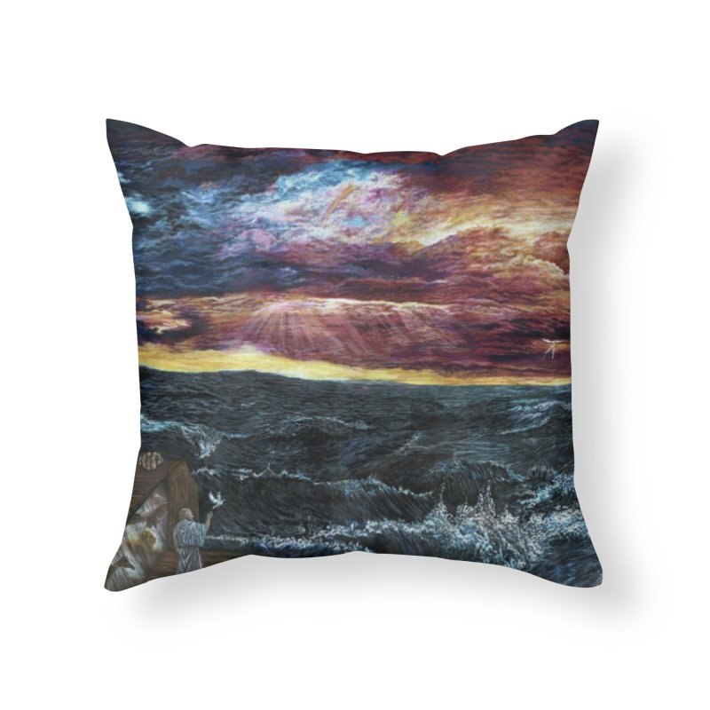noahs ark Home Throw Pillow by Elevated Space