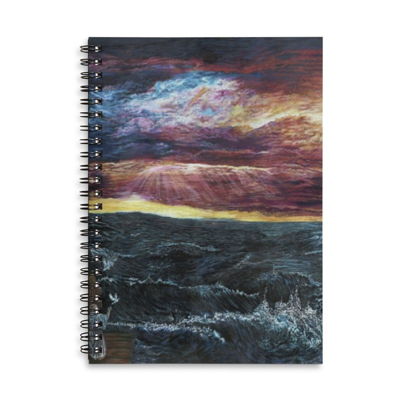 noahs ark Accessories Lined Spiral Notebook by Elevated Space