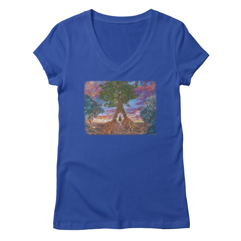 Birth Women's Regular V-Neck by Elevated Space