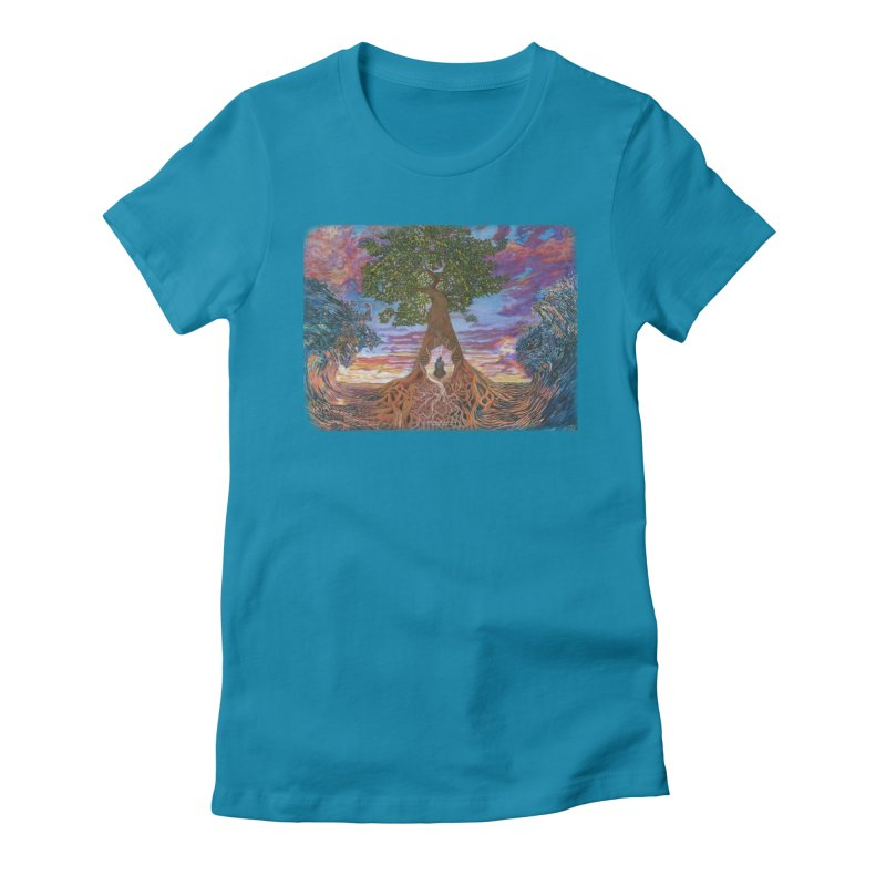 Birth Women's Fitted T-Shirt by Elevated Space