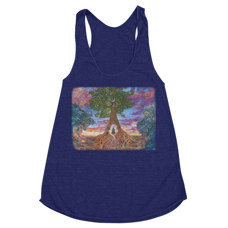 Birth Women's Racerback Triblend Tank by Elevated Space