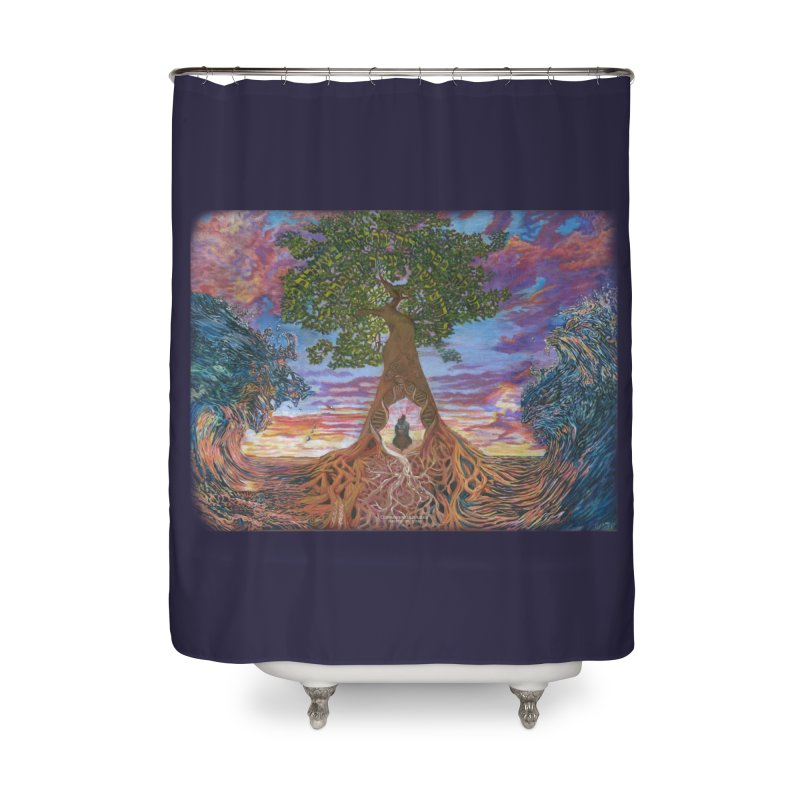 Birth Home Shower Curtain by Elevated Space