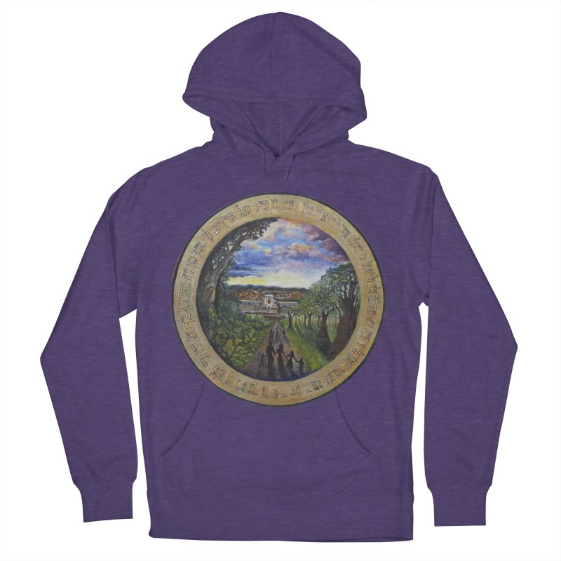 peace on earth Women's French Terry Pullover Hoody by Elevated Space