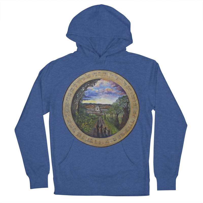 peace on earth Men's French Terry Pullover Hoody by Elevated Space