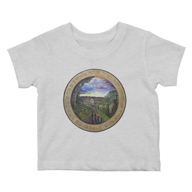 peace on earth Kids Baby T-Shirt by Elevated Space