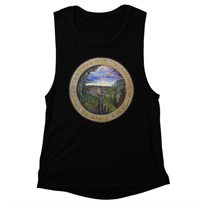 peace on earth Women's Muscle Tank by Elevated Space