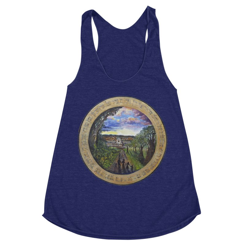 peace on earth Women's Racerback Triblend Tank by Elevated Space