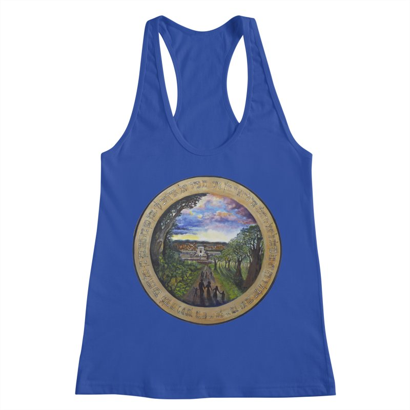 peace on earth Women's Racerback Tank by Elevated Space