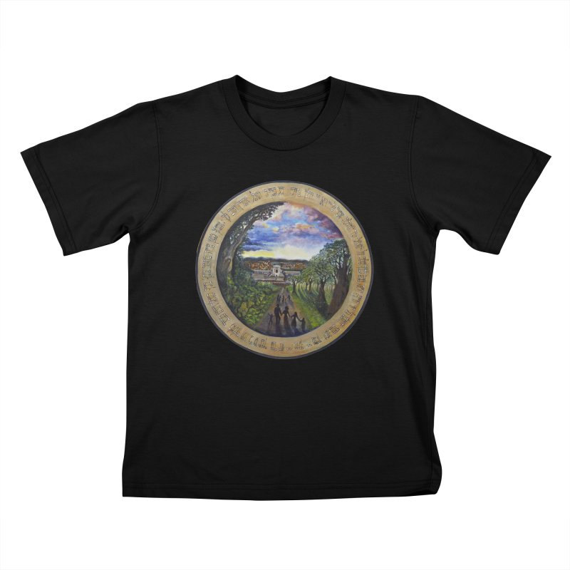 peace on earth Kids T-Shirt by Elevated Space