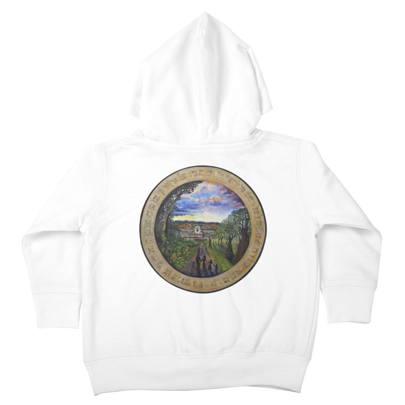 peace on earth Kids Toddler Zip-Up Hoody by Elevated Space