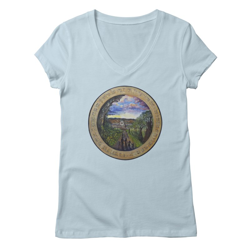 peace on earth Women's Regular V-Neck by Elevated Space