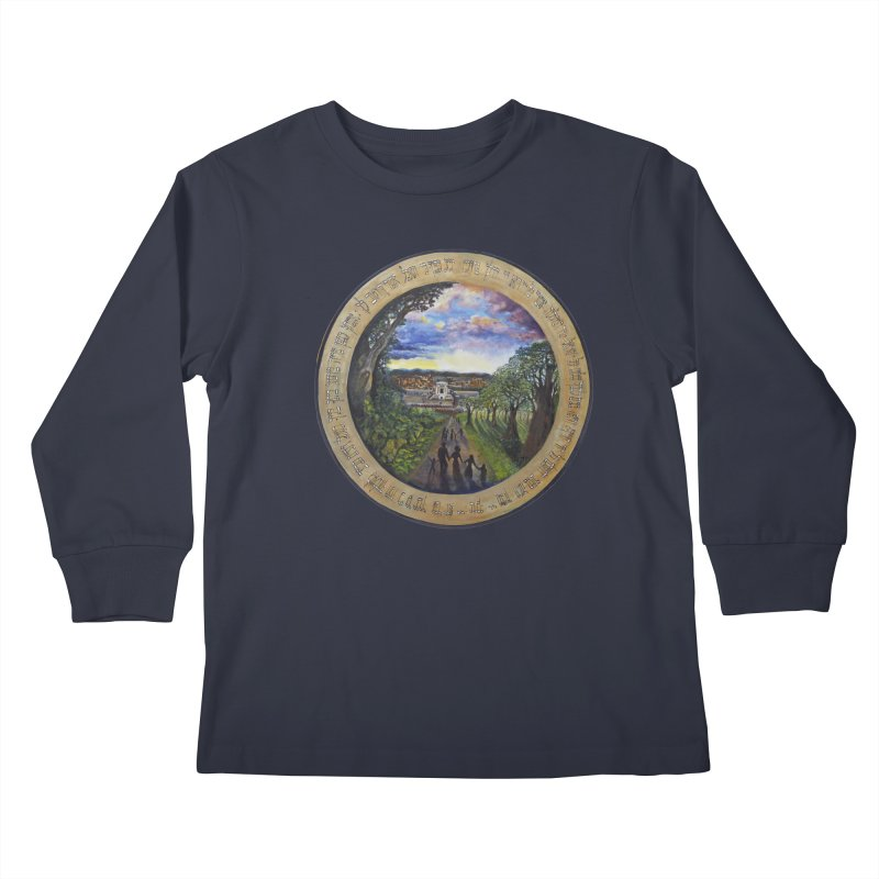 peace on earth Kids Longsleeve T-Shirt by Elevated Space