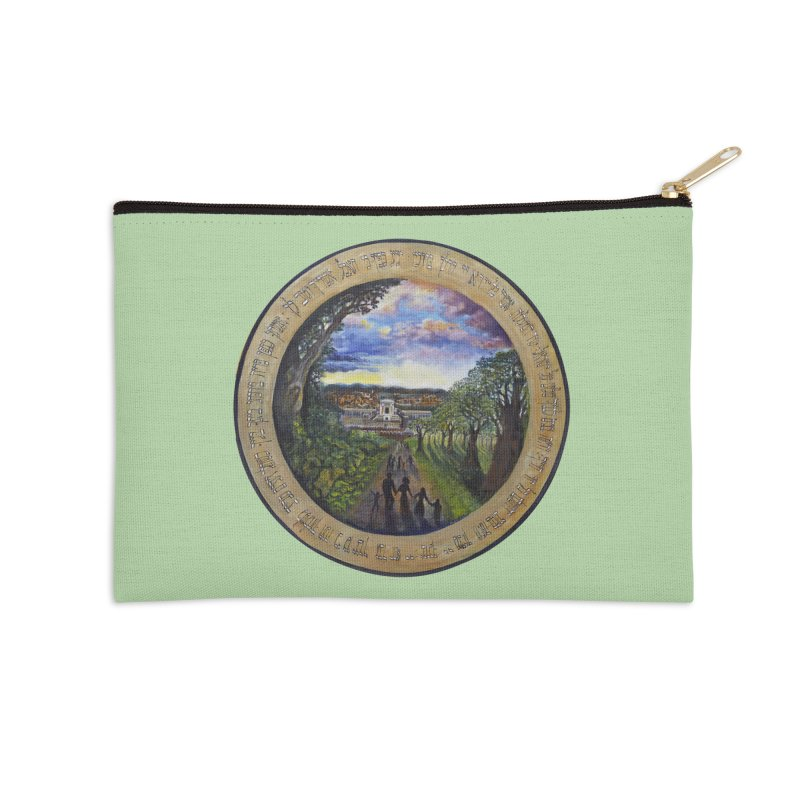 peace on earth Accessories Zip Pouch by Elevated Space