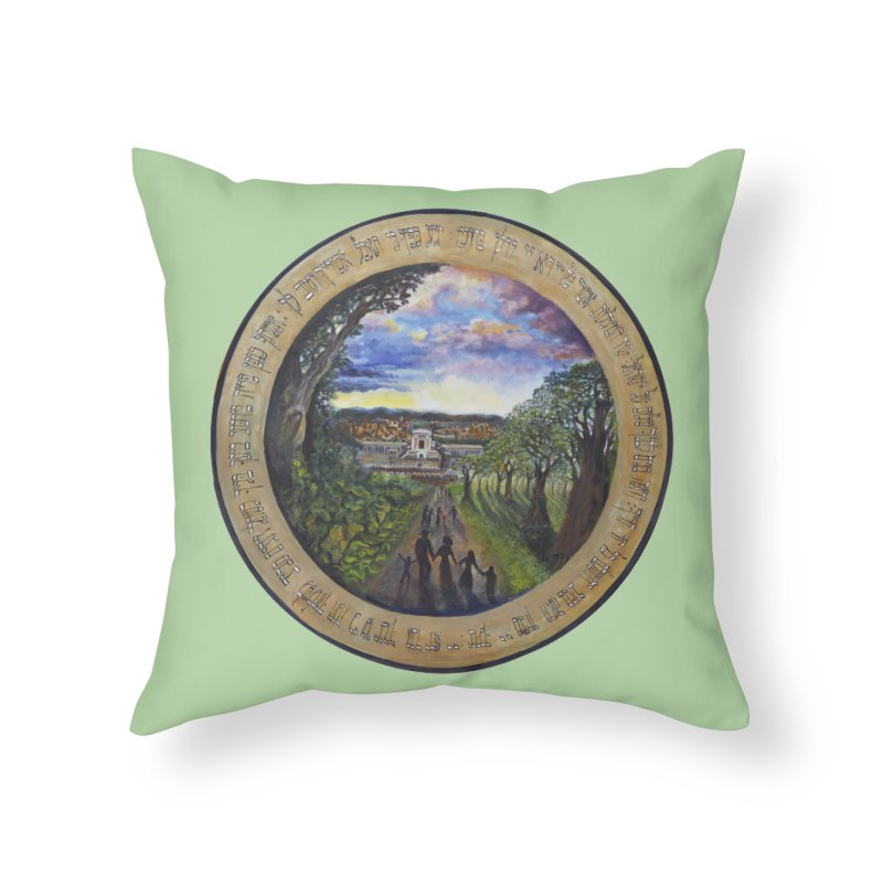 peace on earth Home Throw Pillow by Elevated Space