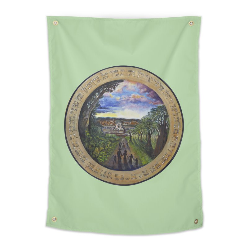 peace on earth Home Tapestry by Elevated Space