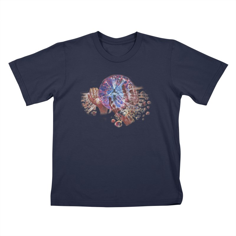 mind over matter Kids T-Shirt by Elevated Space