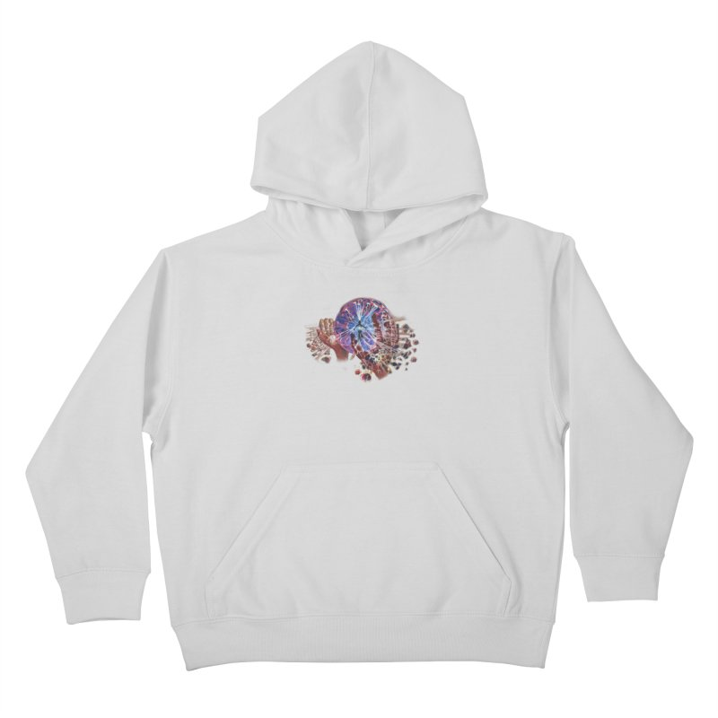 mind over matter Kids Pullover Hoody by Elevated Space