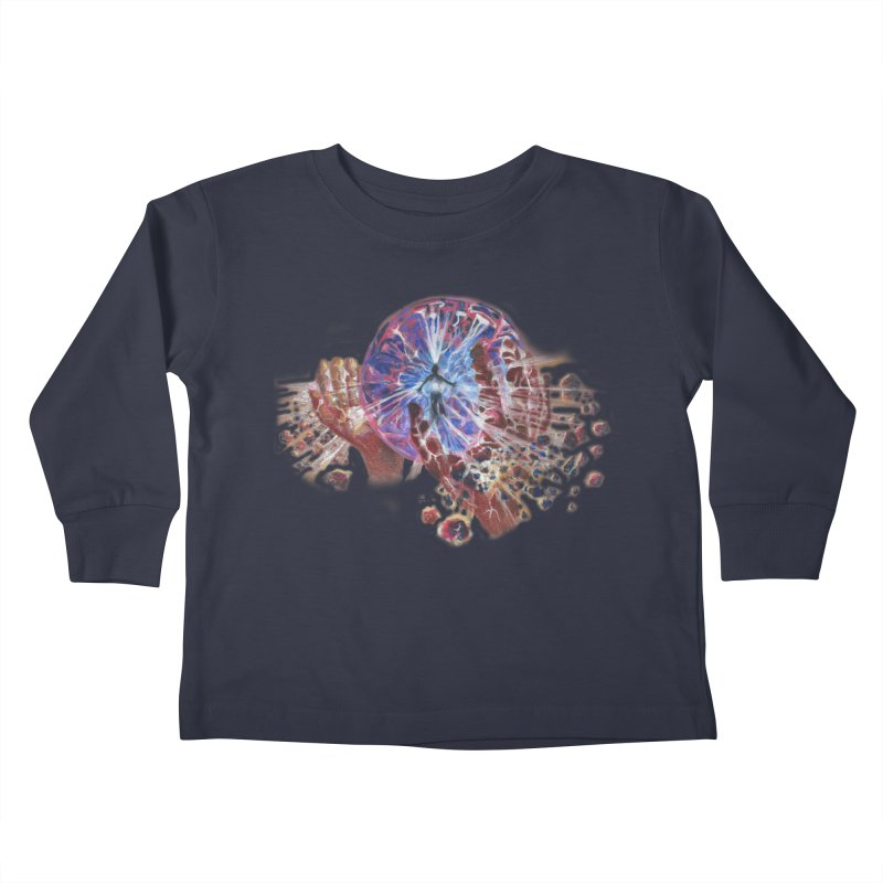 mind over matter Kids Toddler Longsleeve T-Shirt by Elevated Space