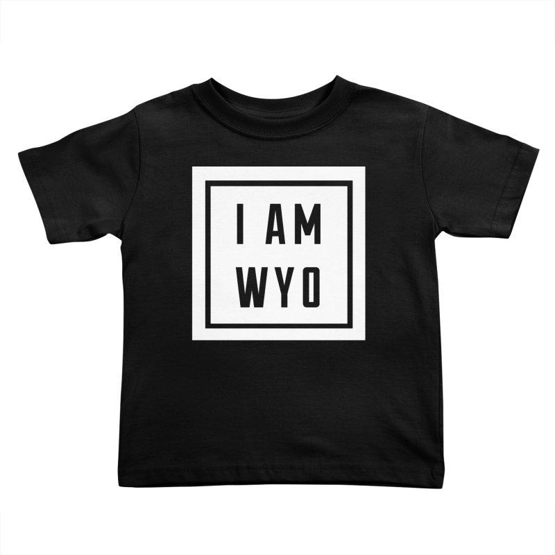 I AM WYO box Kids Toddler T-Shirt by Elevation Wyoming