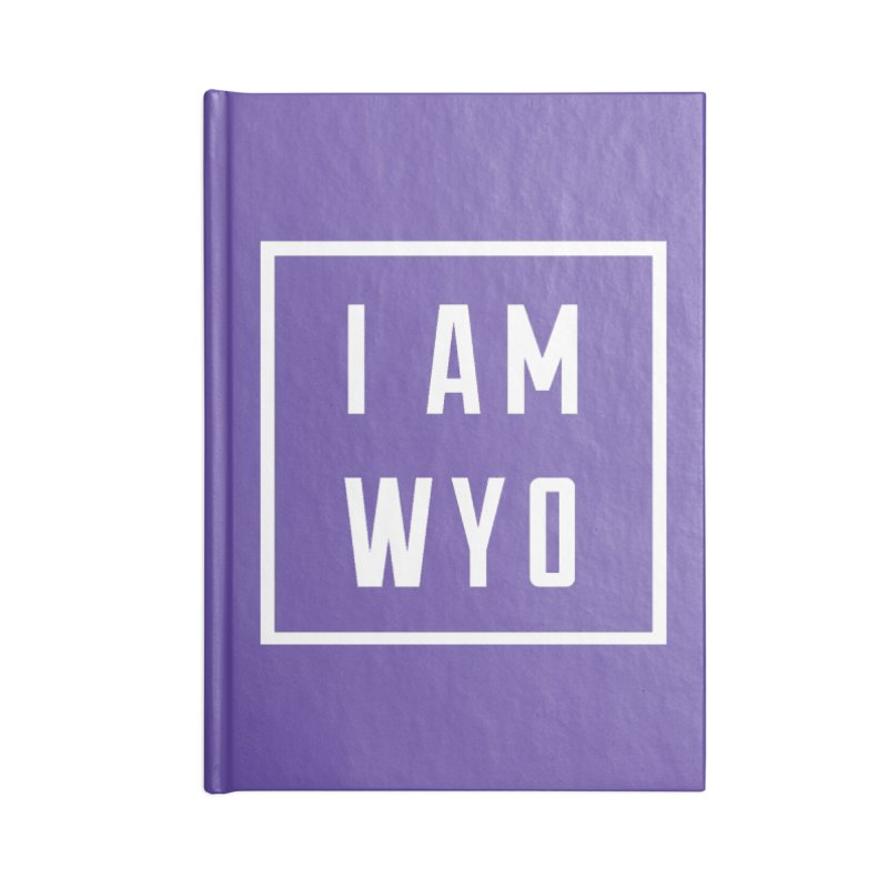 I AM WYO white letters box Accessories Notebook by Elevation Wyoming