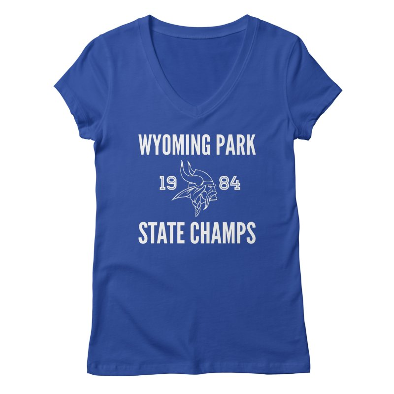 WP84 Champs white letters Women's V-Neck by Elevation Wyoming