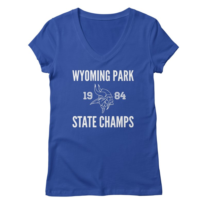 WP84 Champs white letters Women's Regular V-Neck by Elevation Wyoming