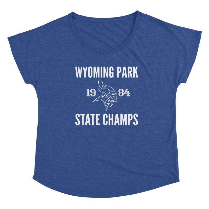 WP84 Champs white letters Women's Scoop Neck by Elevation Wyoming