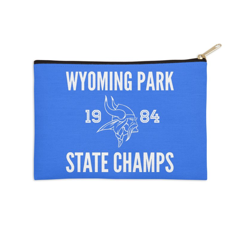 WP84 Champs white letters Accessories Zip Pouch by Elevation Wyoming