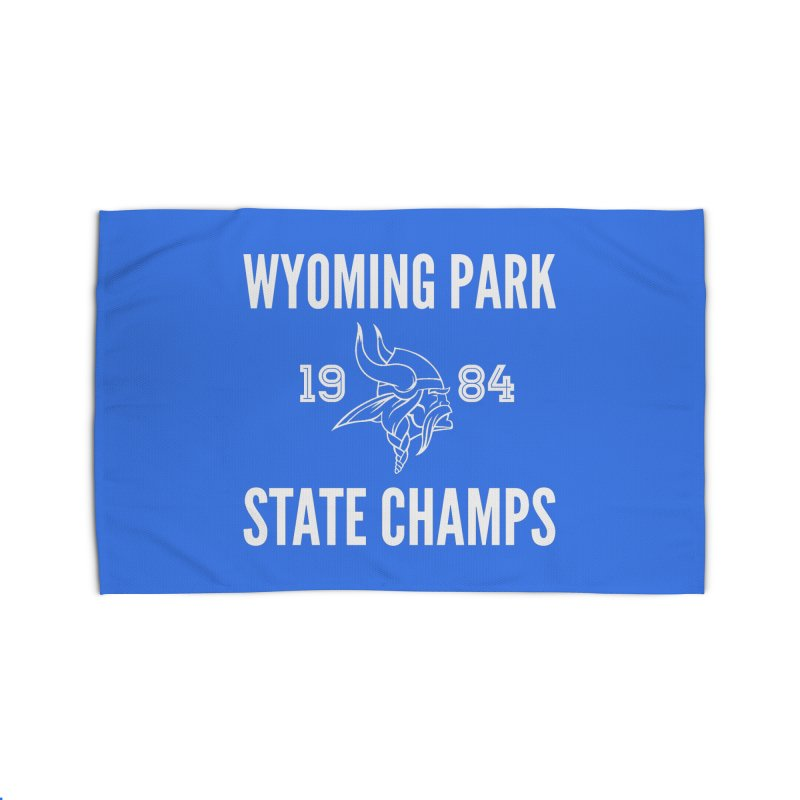 WP84 Champs white letters Home Rug by Elevation Wyoming