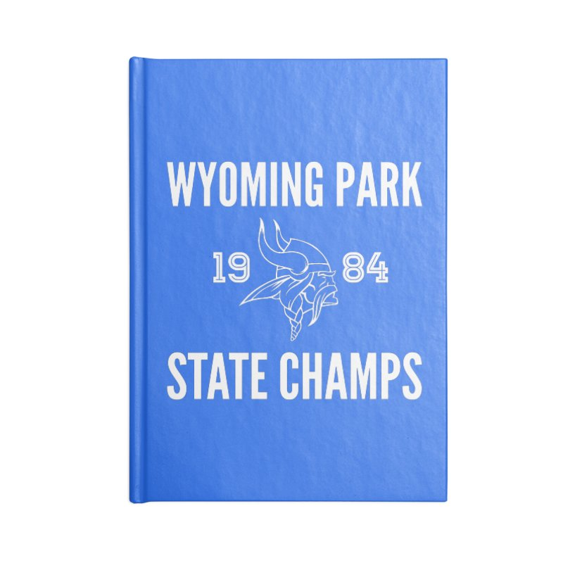WP84 Champs white letters Accessories Blank Journal Notebook by Elevation Wyoming