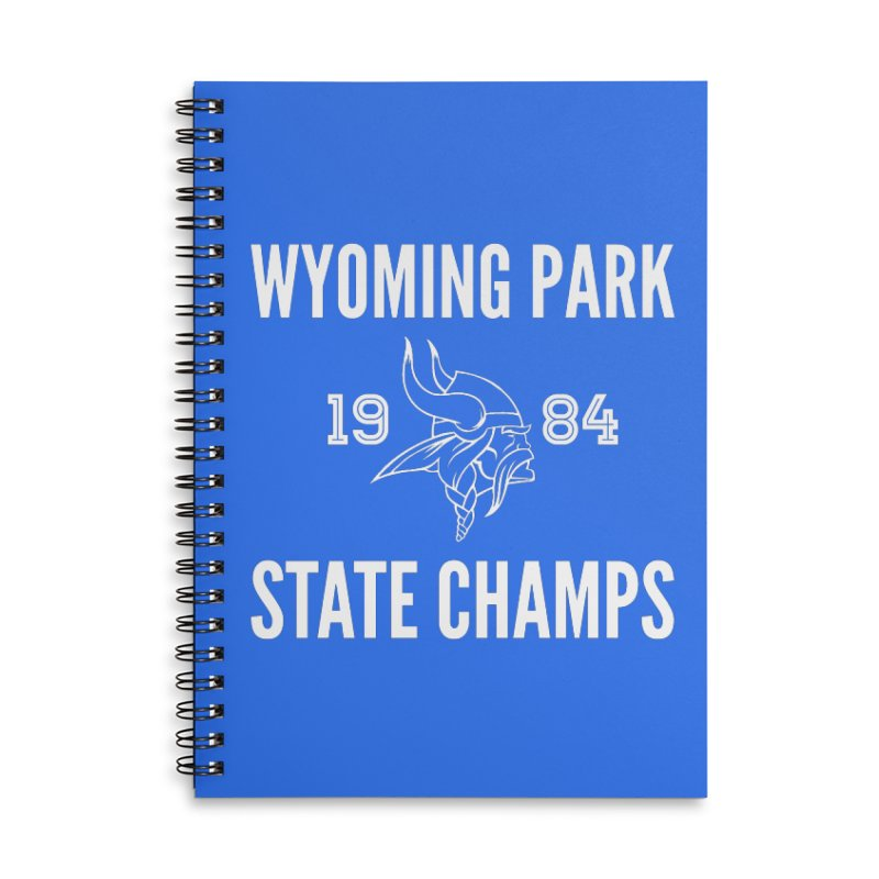 WP84 Champs white letters Accessories Lined Spiral Notebook by Elevation Wyoming