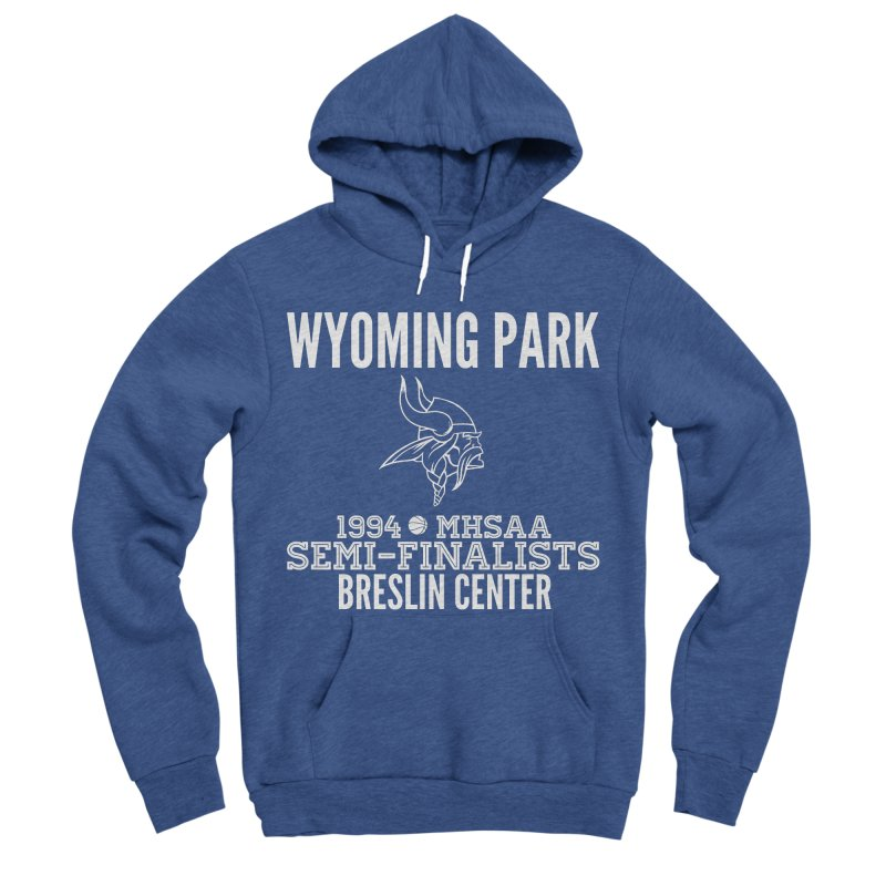 Wyoming Park 1994 Bball White Letters Men's Sponge Fleece Pullover Hoody by Elevation Wyoming