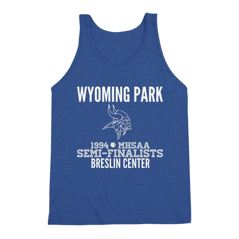Wyoming Park 1994 Bball White Letters Men's Tank by Elevation Wyoming