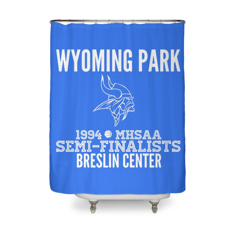 Wyoming Park 1994 Bball White Letters Home Shower Curtain by Elevation Wyoming