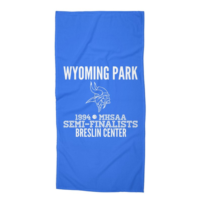 Wyoming Park 1994 Bball White Letters Accessories Beach Towel by Elevation Wyoming