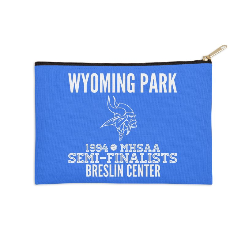 Wyoming Park 1994 Bball White Letters Accessories Zip Pouch by Elevation Wyoming