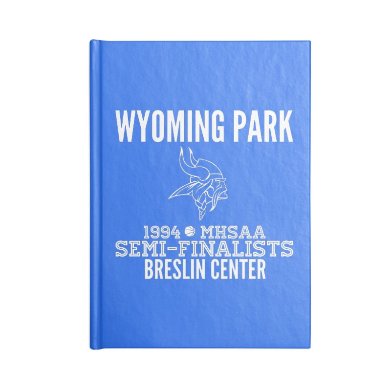 Wyoming Park 1994 Bball White Letters Accessories Blank Journal Notebook by Elevation Wyoming