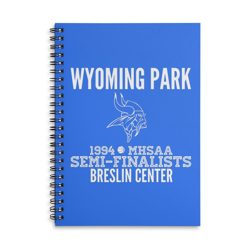 Wyoming Park 1994 Bball White Letters Accessories Lined Spiral Notebook by Elevation Wyoming