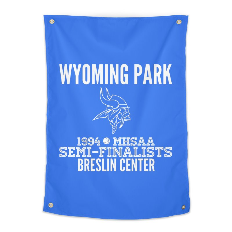 Wyoming Park 1994 Bball White Letters Home Tapestry by Elevation Wyoming