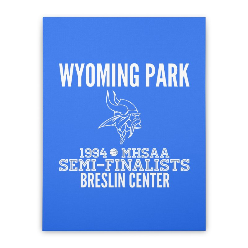 Wyoming Park 1994 Bball White Letters Home Stretched Canvas by Elevation Wyoming