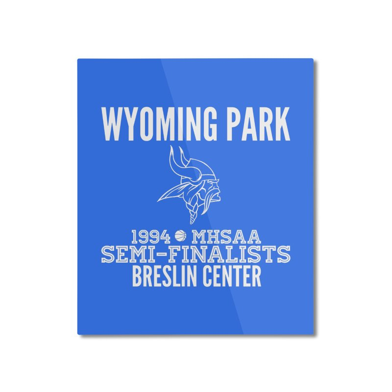 Wyoming Park 1994 Bball White Letters Home Mounted Aluminum Print by Elevation Wyoming