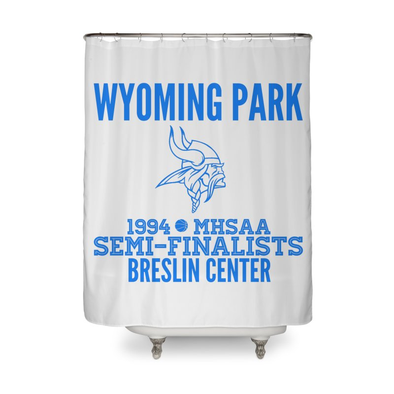 Wyoming Park 1994 Bball Blue Home Shower Curtain by Elevation Wyoming
