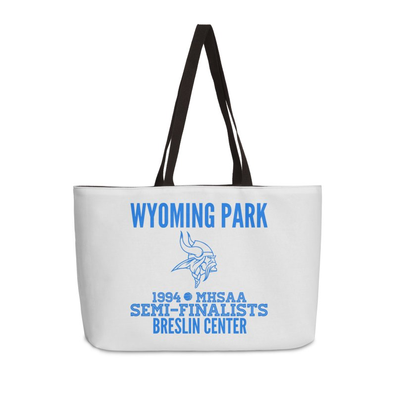 Wyoming Park 1994 Bball Blue Accessories Weekender Bag Bag by Elevation Wyoming