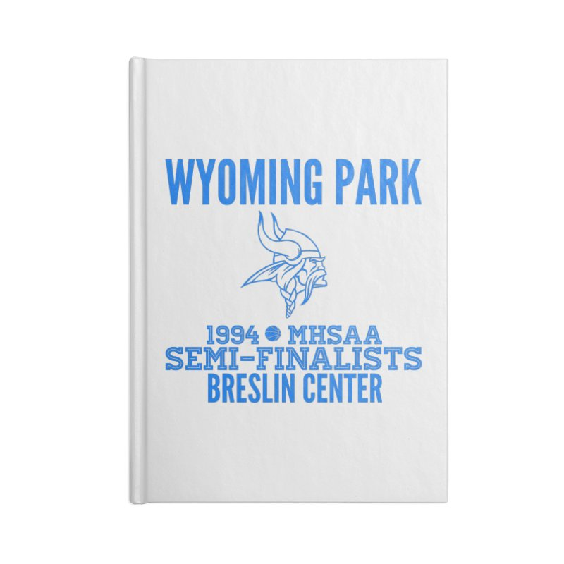 Wyoming Park 1994 Bball Blue Accessories Blank Journal Notebook by Elevation Wyoming