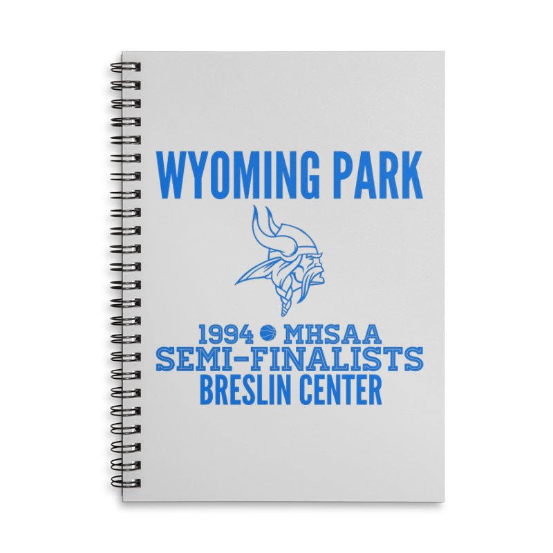 Wyoming Park 1994 Bball Blue Accessories Lined Spiral Notebook by Elevation Wyoming