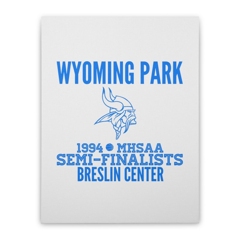 Wyoming Park 1994 Bball Blue Home Stretched Canvas by Elevation Wyoming