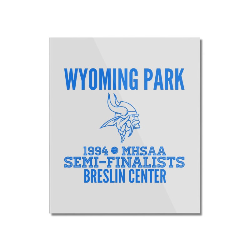 Wyoming Park 1994 Bball Blue Home Mounted Acrylic Print by Elevation Wyoming